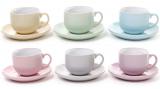 """Чайный набор Shabby Chic """"Color"""" 6 чашек 250мл и 6 блюдец"""