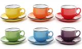 """Чайный набор """"Радуга"""" 6 чашек 250мл и 6 блюдец"""