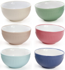 """Набор 6 керамических пиал """"Артемида"""" 650мл, цветные салатники"""