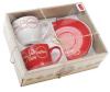 "Набор 2 чашки ""Mokko Coffee Red"" 250мл с блюдцами, красные"