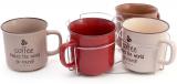 """Набір 4 керамічні кружки """"Mokko Coffee"""" 450мл на підставці"""