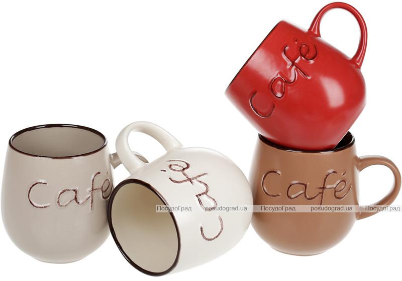 """Кружка керамічна """"Cafe"""" 550мл, кераміка матова"""