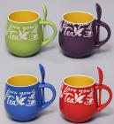 """Кружка """"Coffee Break"""" 675мл с керамической ложкой"""