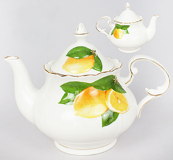 "Чайник заварочный ""Лимон"" 1.1л, фарфор"