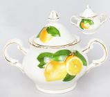 "Сахарница ""Лимон"" 260мл, фарфор"