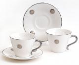 Подарочный чайный набор Silver Glade-52 2 чашки 200мл с блюдцами