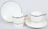 Кавовий набір Silver Glade 2 чашки 150мл з декоративними браслетами