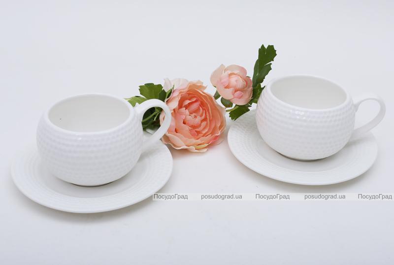 Чайно-кофейный набор White Princess 2 чашки 200мл с блюдцами
