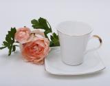 Чайная пара White Princess чашка 210мл с блюдцем