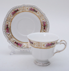 "Чайна пара White Princess ""Букет Троянд"" чашка 230мл з блюдцем"