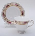 """Чайная пара White Princess """"Букет Роз"""" чашка 230мл с блюдцем"""