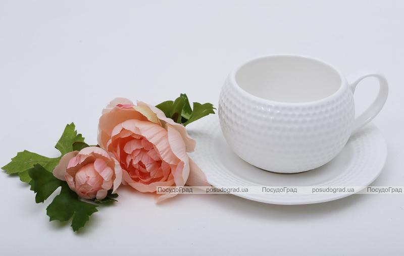 Чайная пара White Princess чашка 200мл с блюдцем