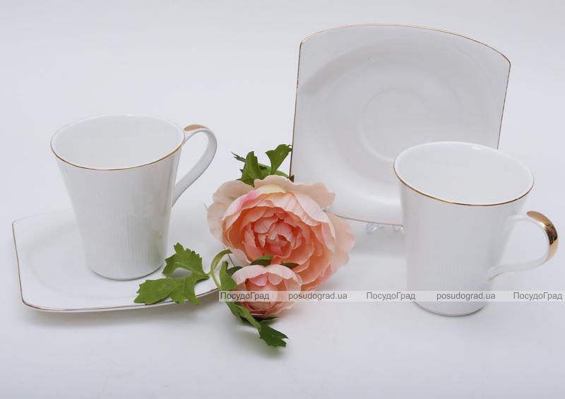 Чайно-кофейный набор White Princess 2 чашки 210мл с блюдцами