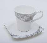 Чайная подарочная пара Silver Glade-77 чашка 210мл с блюдцем в подарочной коробке