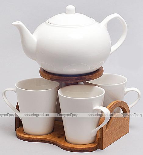 Набор для чая и кофе Ceram-Bamboo 230мл на бамбуковой подставке