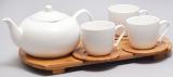 Набор для чая и кофе Ceram-Bamboo 210мл на бамбуковой подставке