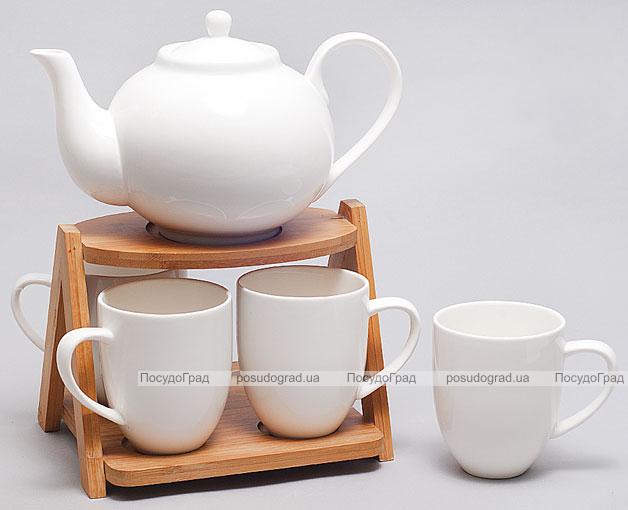 Набор для чая и кофе Ceram-Bamboo 240мл на бамбуковой подставке