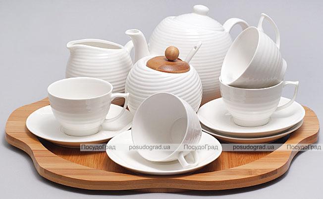 Набор для чая и кофе Ceram-Bamboo 130мл на бамбуковом подносе