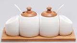 Набор спецовников Ceram-Bamboo с сахарницей и емкостью для меда