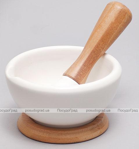 Ступа фарфоровая с пестиком Ceram-Bamboo 12,2см