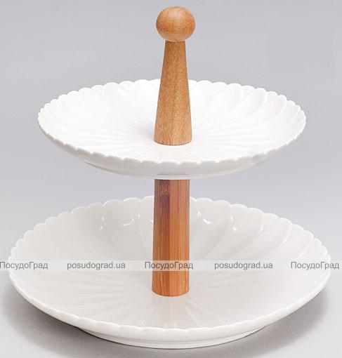 Блюдо фуршетная стойка Ceram-Bamboo Ø25см 2-х ярусная