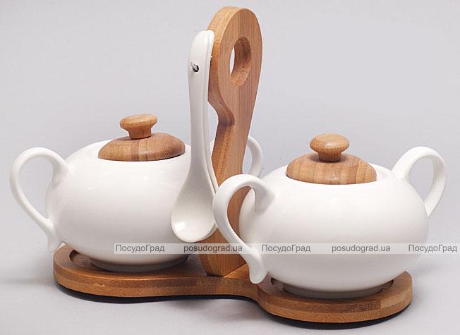 Набор для сахара, меда или специй Ceram-Bamboo 6 предметов