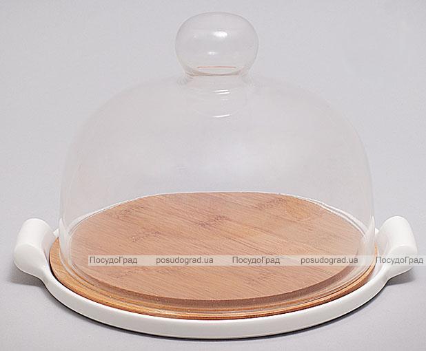 Набор для масла и сыра Ceram-Bamboo Ø20см с крышкой