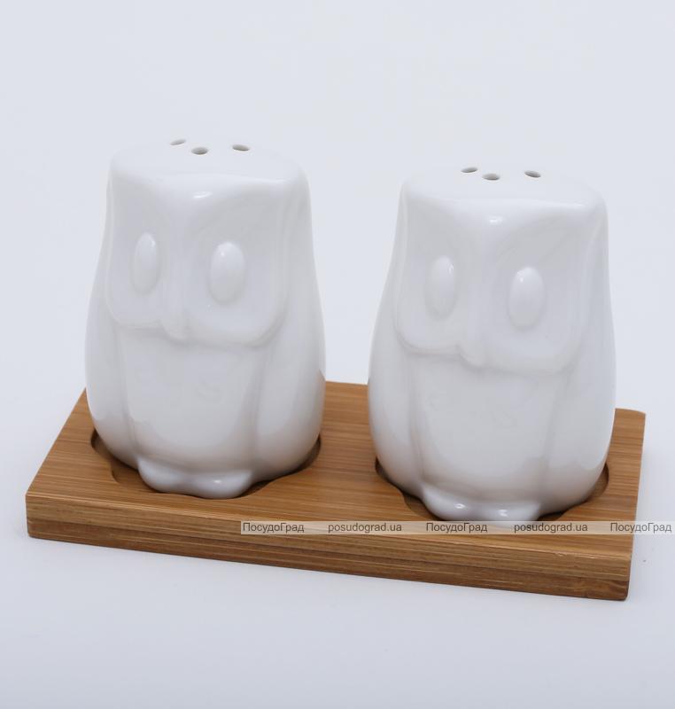 """Набор для специй Ceram-Bamboo """"Совушки"""" соль/перец на подставке"""