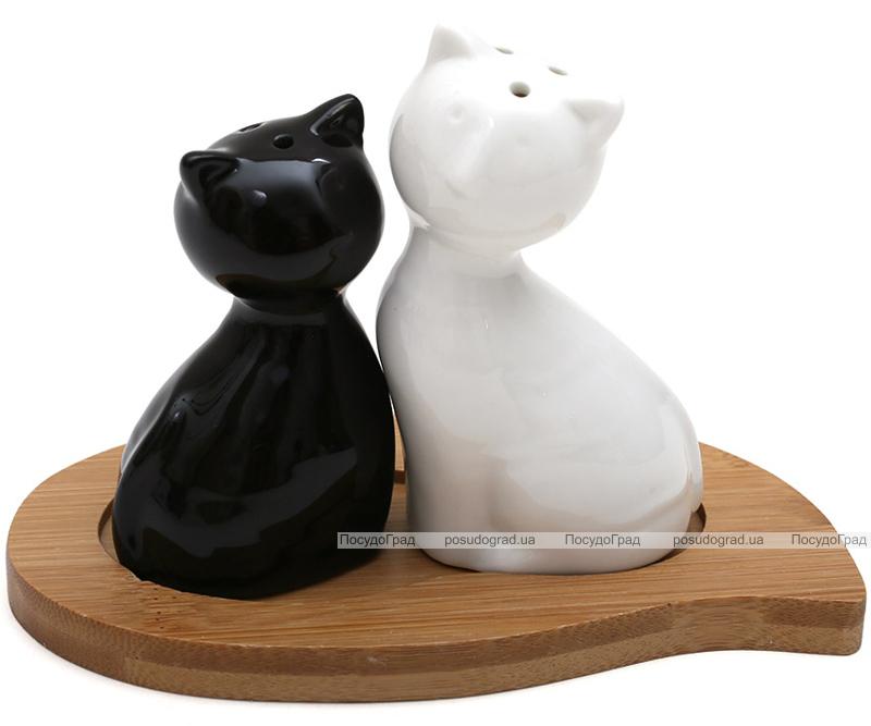 """Набор для специй Ceram-Bamboo """"Котята"""" соль/перец на подставке"""