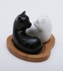 """Набор для специй Ceram-Bamboo """"Котята в сердечке"""" соль/перец на подставке"""