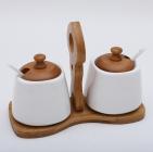 Набор банок Ceram-Bamboo по 300мл для сахара и специй, 2 ложки