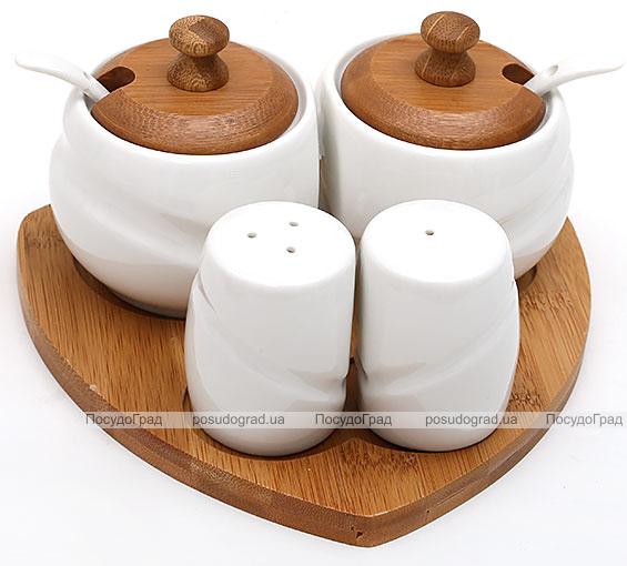 Набор Ceram-Bamboo сервировочный, сахарница 200мл и спецовники