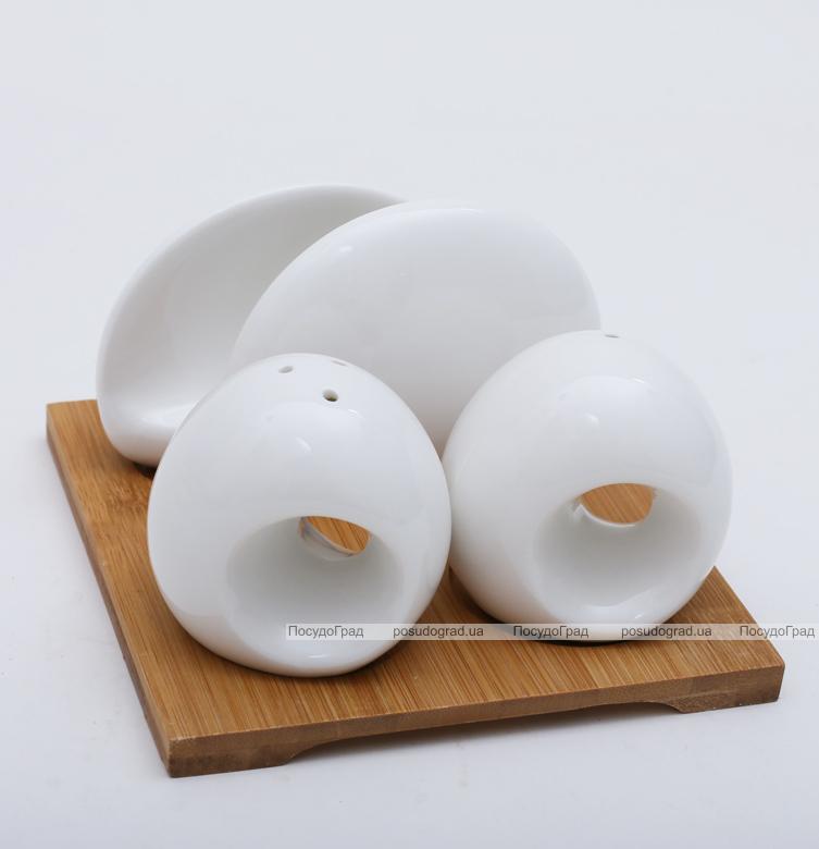 Набор Ceram-Bamboo для специй с фарфоровой салфетницей