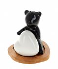 """Набор для специй Ceram-Bamboo """"Мишка с сердечком"""" соль/перец на подставке"""