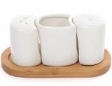 Набор спецовников Ceram-Bamboo солонка, перечница и емкость для зубочисток
