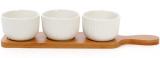 Набір 3 соусники (піали) Ceram-Bamboo 150мл на бамбуковій підставці