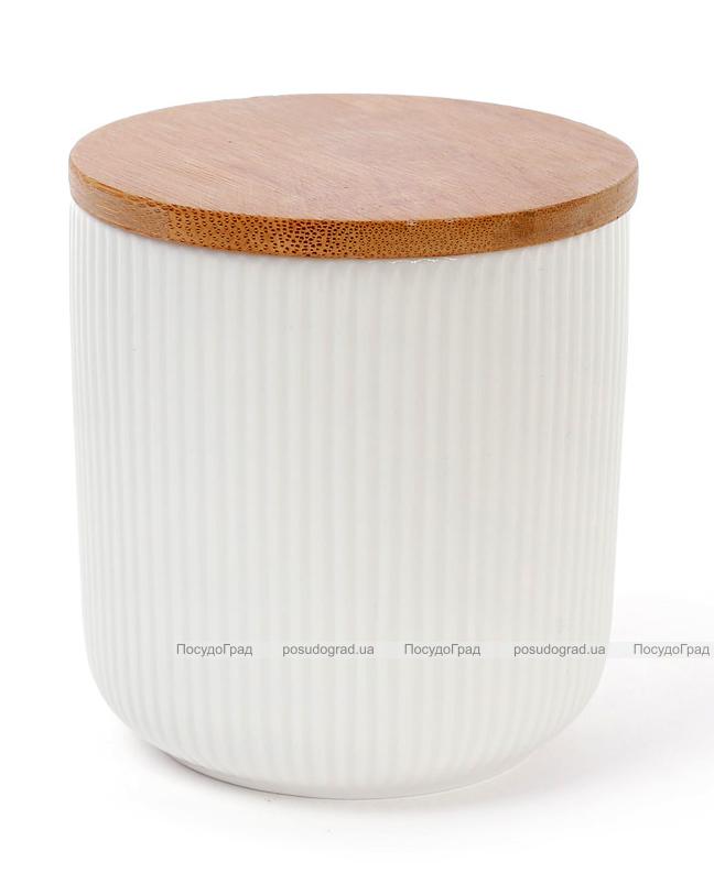 Банка Ceram-Bamboo 500мл для сыпучих продуктов с бамбуковой крышкой