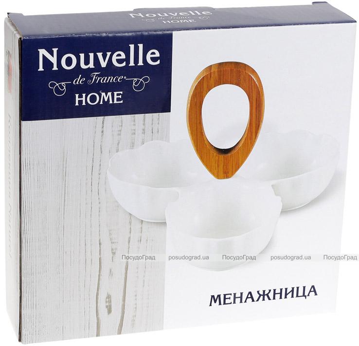 Менажница Nouvelle Home Цветок 3-х секционная 22х22х4.7см