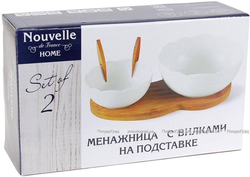 Набір салатників Nouvelle Home Квітка 2 салатники 500мл і 200мл на підставці
