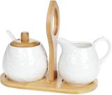 Набор для чая Nouvelle Home Лист молочник и сахарница на подставке