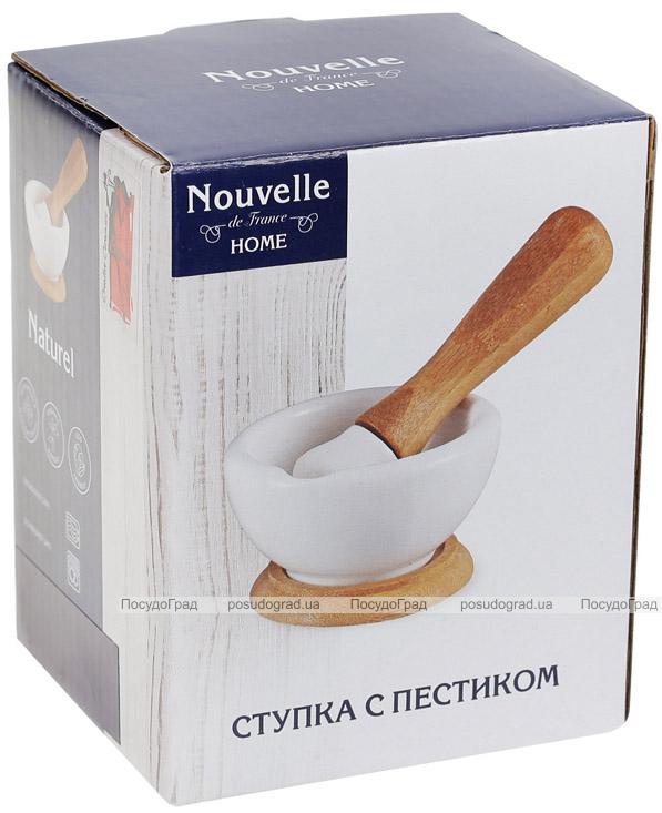 Ступа фарфоровая Nouvelle Home 9х9х5.5см с бамбуковой подставкой
