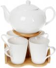 Чайный набор Nouvelle Home Глянец заварочный чайник и 4 кружки
