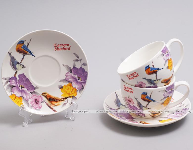 """Чайный набор """"Birds Garden"""" 280мл 4 предмета на 2 персоны"""