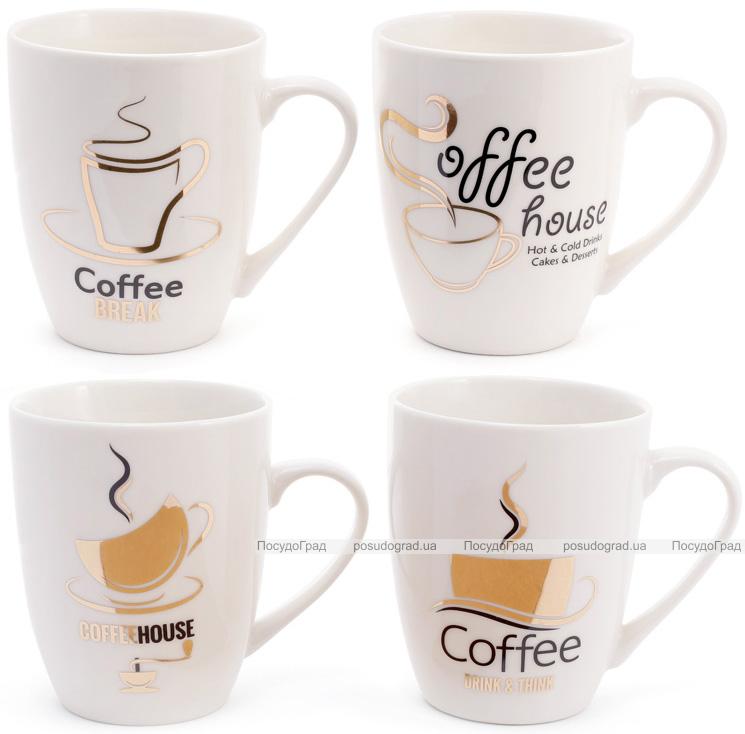 """Кружка фарфоровая """"Coffee House"""" 350мл"""