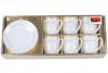 Набор Parma-09 для эспрессо 6 чашек 90мл и 6 блюдец