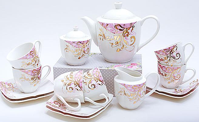 Чайный сервиз Spoleto-02 15 предметов на 6 персон, фарфор, 200мл