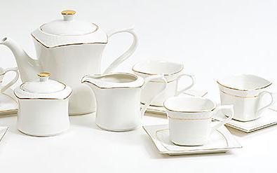 Чайный сервиз Spoleto-05 15 предметов на 6 персон, фарфор, 220мл