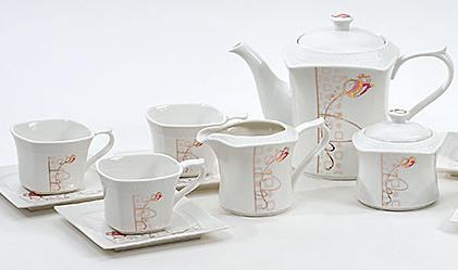 Чайный сервиз Spoleto-19 15 предметов на 6 персон, фарфор, 220мл