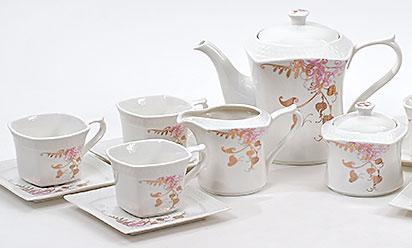 Чайный сервиз Spoleto-21 15 предметов на 6 персон, фарфор, 220мл