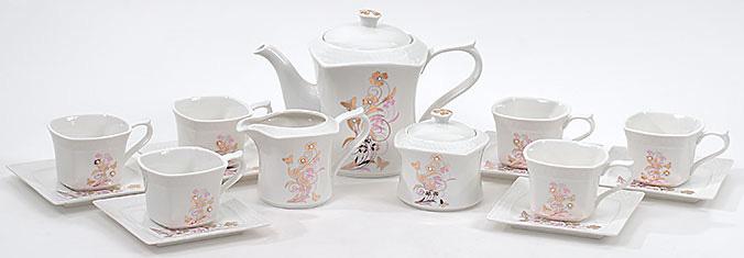Чайный сервиз Spoleto-70 15 предметов на 6 персон, фарфор, 220мл